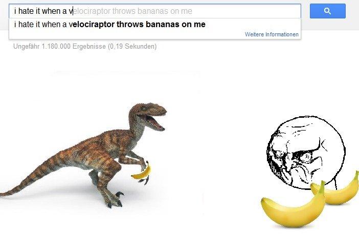 velociraptor bananas homework meme