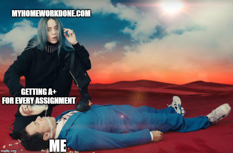 billie eilish home work meme