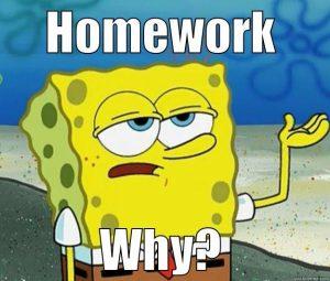 spongebob homework meme